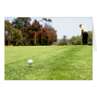 Golf Tarjeta De Felicitación