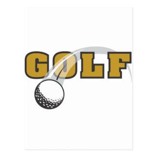 Golf Tarjeta Postal