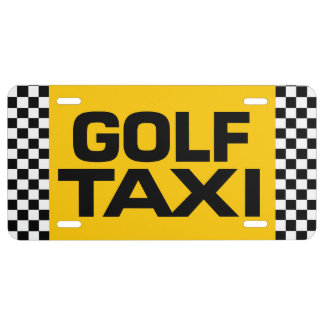 Golf Taxi License Plate
