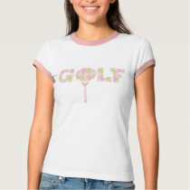 Golf tee argyle patterned pink t-shirt