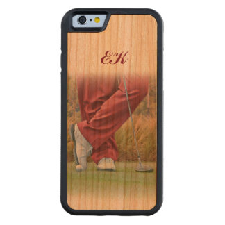 Golf Tee Time Customizable Monogram Carved® Cherry iPhone 6 Bumper