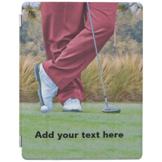 Golf Tee Time Customizable Text iPad Cover