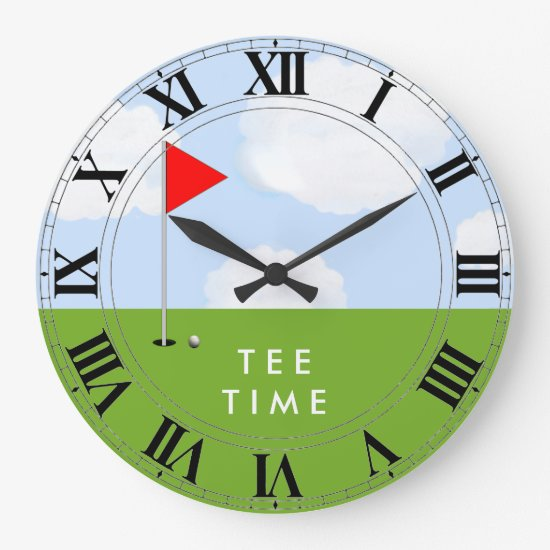golf tee time large clock