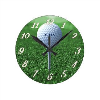 Golf Tee Time Wall Clock
