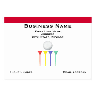 Golf Tees and Red Stripe Business Card