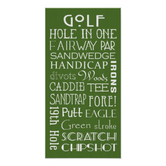 Golf Terms Subway Sign Poster
