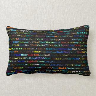 Golf Text Design I Lumbar Pillow