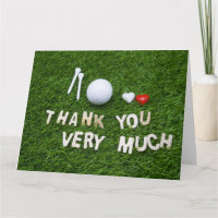 Golf Thank you card