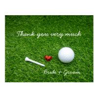 Golf Thank you card for golfer wedding