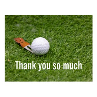 Golf Thank you card for golfer with golf ball