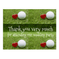 Golf Thank you card with golf ball and love