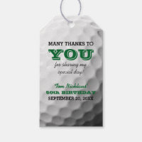 Golf Thank You Favor Tag