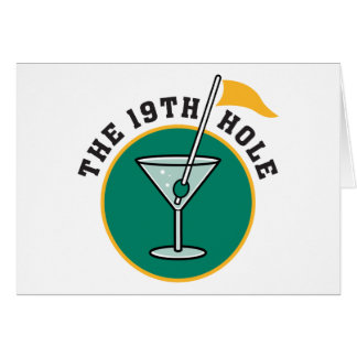 Golf The 19th Hole Drinking Greeting Card