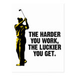 Golf - The Harder You Work The Luckier You Get Postcard
