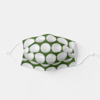 Golf Theme Golf Balls Pattern Face Masks For Men