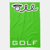 Golf theme kitchen towel