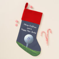 Golf Theme Merry Golfmas Christmas Stocking