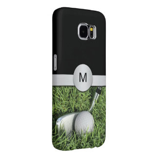Golf Theme Monogram Style Samsung Galaxy S6 Case