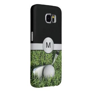 Golf Theme Monogram Style Samsung Galaxy S6 Case