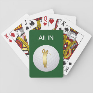Golf Theme Playing Cards