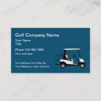 Golf Theme Simple Business Card
