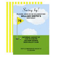 golf-themed birthday event invitation