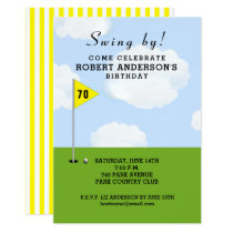 golf-themed birthday invitation