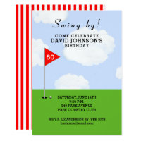 golf-themed birthday invitation
