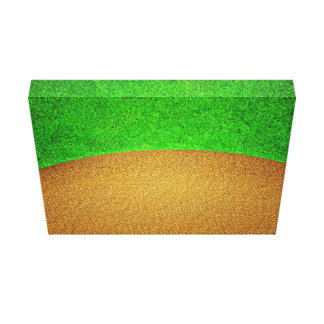 Golf Themed Grass And Sand Backdrop Canvas Print