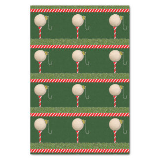 golf-themed holiday supplies tissue paper