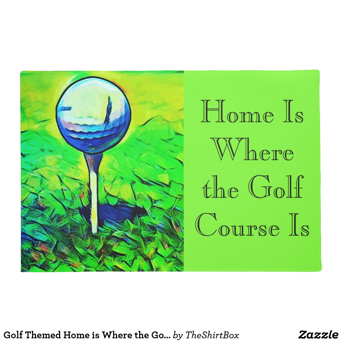 Golf Themed Home is Where the Golf Course Is Mat