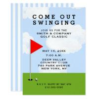 golf themed invitations