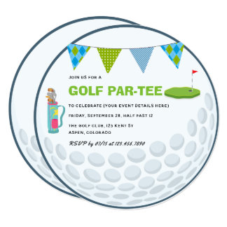 Golf Themed Party Invitation