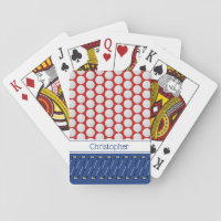 Golf themed pattern add name playing cards