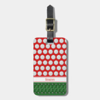 golf themed pattern custom name luggage tag