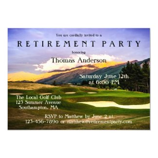 Golf Themed Retirement Party Invitation