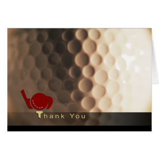 Golf Themed Thank You Card