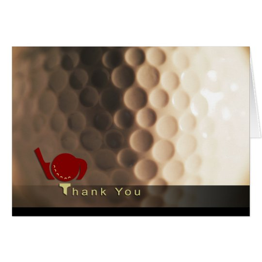 golf themed thank you card zazzle com