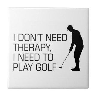 Golf Therapy Ceramic Tile