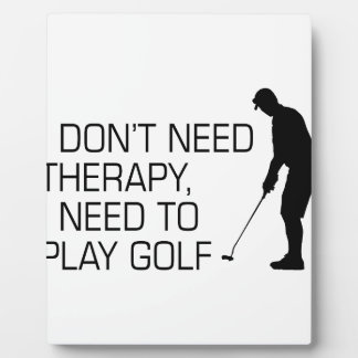 Golf Therapy Plaque