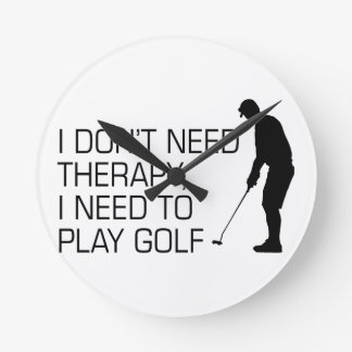 Golf Therapy Round Clock