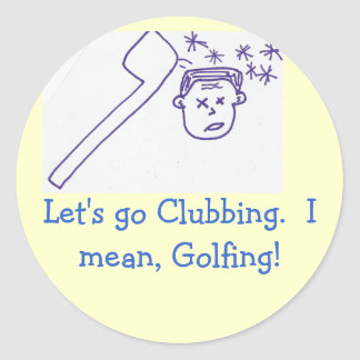 Golf thoughts sticker