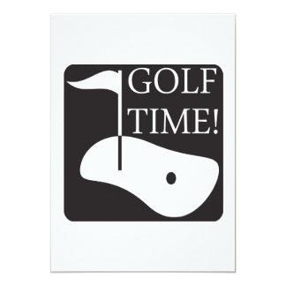 Golf Time Card