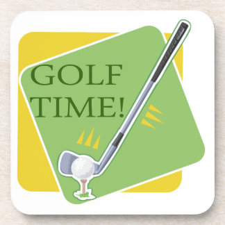 Golf Time Drink Coasters