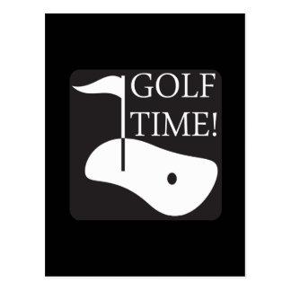Golf Time Postcard