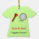 Golf Together Forever Christmas Ornament