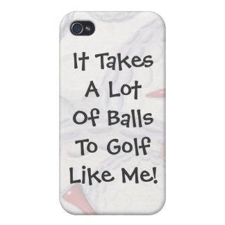 Golf toma el caso del iPhone 4/4S de las bolas iPhone 4 Carcasas
