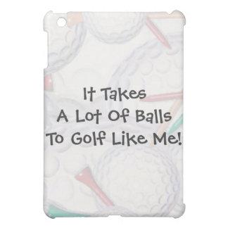 Golf toma pieles del iPad de las bolas