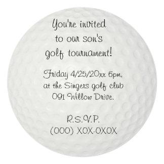 Golf tournament card