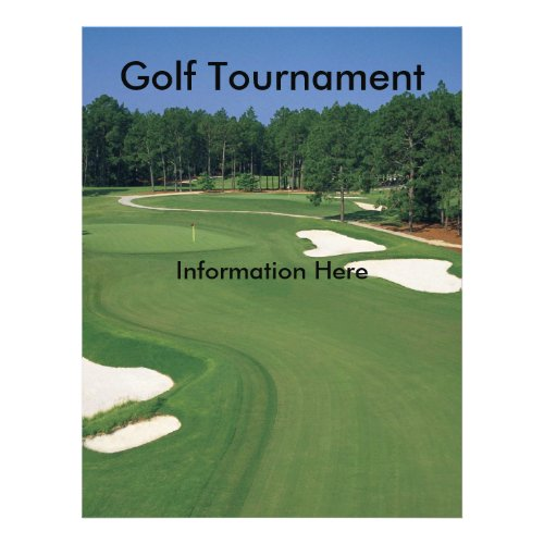 Golf Tournament Flyer zazzle_flyer